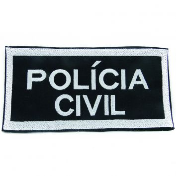 Distintivo da Policia Civil Costas